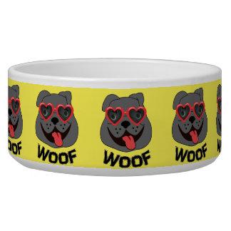 Funny Bulldog Food Bowl