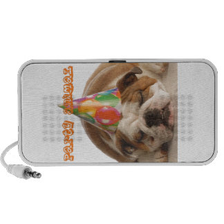 Funny Bulldog Gifts-Party Animal Sleeping Bulldog Notebook Speaker