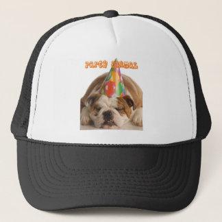 Funny Bulldog Gifts-Party Animal Sleeping Bulldog Trucker Hat