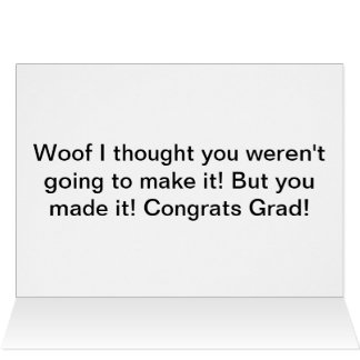 Funny bulldog graduation card