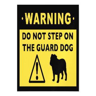 Funny Bulldog Guard Dog Warning Magnetic Card