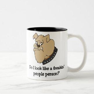 Funny bulldog mug