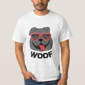 Funny Bulldog T Shirt for Men
