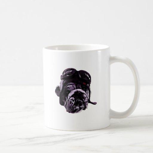 Funny Bulldog with Glasses Coffee Mug