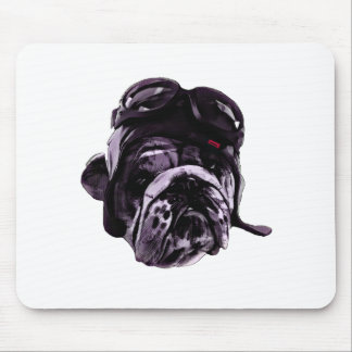 Funny Bulldog with Glasses Mouse Pad