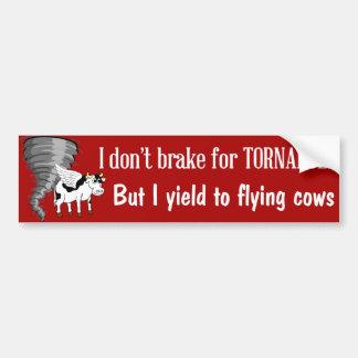 Funny bumper sticker yield to flying cows car bumper sticker