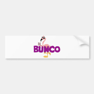 Funny Bunco Dice Game and Pink Flamingo Bumper Sticker