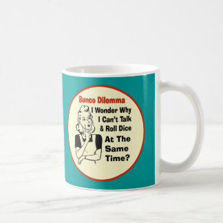 Funny Bunco Dilemma With Retro Woman Coffee Mug