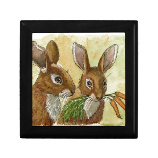 funny bunnies-little gift for you by schukina 529 trinket boxes