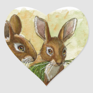 funny bunnies-little gift for you by schukina 529 heart sticker