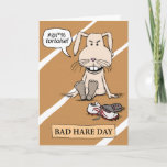 Funny Bunny: Bad Hare Day Card