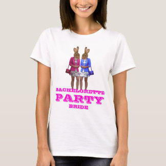 Funny bunny girl Bachelorette  party T-Shirt