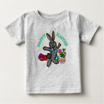 Funny Bunny Happy Easter Baby T-Shirt