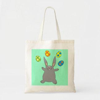Funny Bunny Juggling Easter Eggs Kids Bag