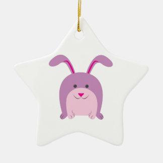 Funny Bunny Christmas Ornament