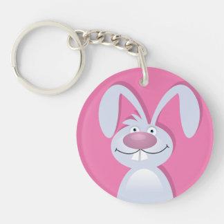 Funny Bunny Personalized Keychain