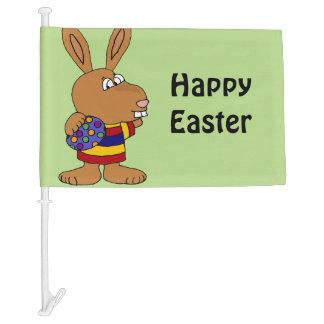 Funny Bunny Rabbit Easter Car Flag