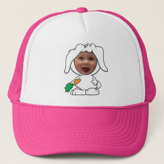 Funny Bunny Rabbit Photo Face Template Trucker Hat