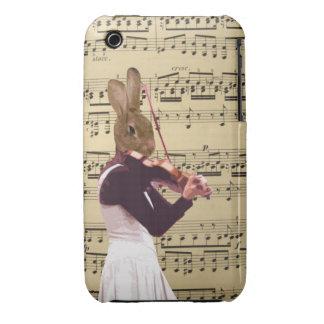 Funny bunny rabbit violinist iPhone 3 case