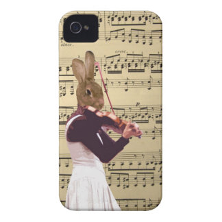 Funny bunny rabbit violinist iPhone 4 Case-Mate case