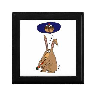 Funny Bunny Rabbit who Hates Carrots Cartoon Gift Boxes