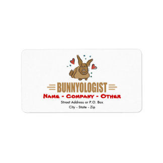 Funny Bunny Rabbits Address Label