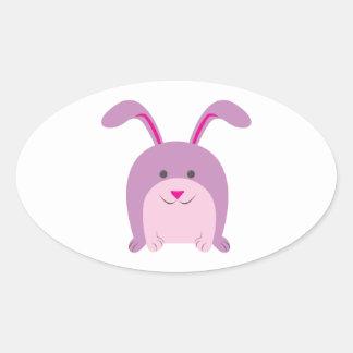 Funny Bunny Oval Sticker