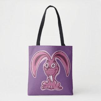 funny bunny sweet rabbit cartoon tote bag