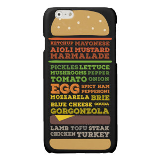 Funny Burger Design Glossy iPhone 6 Case