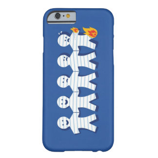 Funny Burning Paper People Chain Barely There iPhone 6 Case