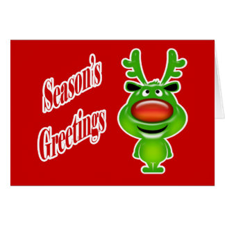 Funny business Christmas reindeer Greeting Cards