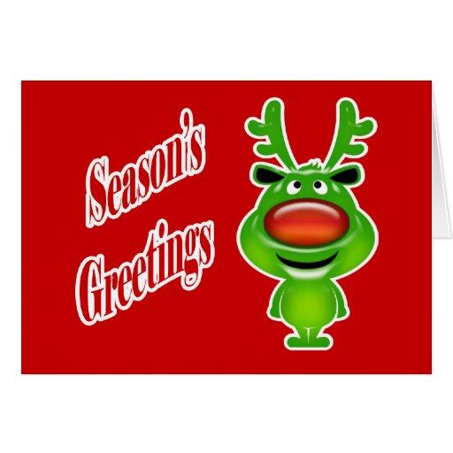 Funny business christmas reindeer greeting cards zazzle for Funny business christmas cards