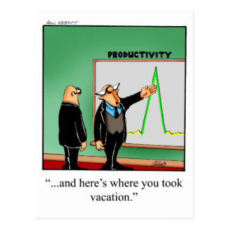 Funny Business Humor Postcard