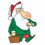 funny businessman santa claus cartoon cut outs