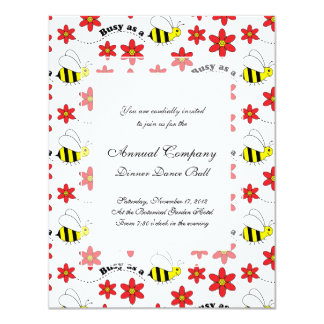 Funny Busy Little Bumble Bee Pattern Cute Card