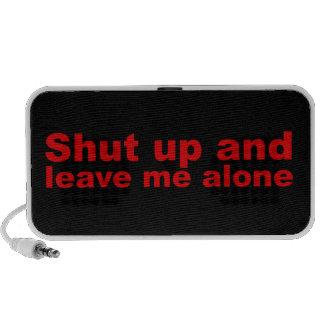 Funny but Rude Shut Up Laptop Speaker