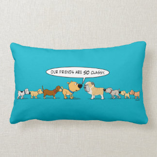 Funny Butt Sniffing Dogs Pillow