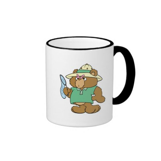 Funny Butterfly Catcher Bear Ringer Coffee Mug