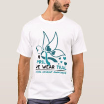 Funny Butterfly In April We Wear Teal Gifts T-Shirt