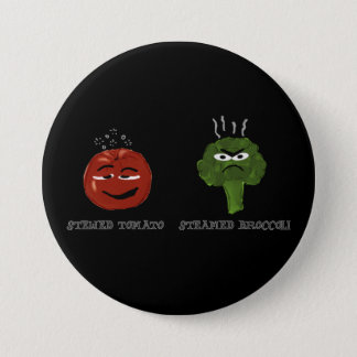 Funny Button with Corny Veggie Pun Vegetable Humor