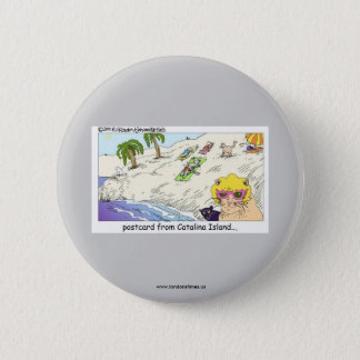 Funny Buttons: Cats From Catalina Island Pinback Button