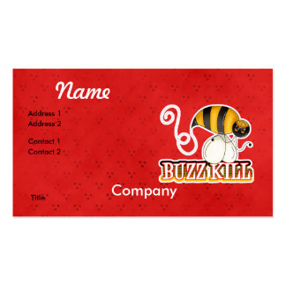 Funny Buzz Kill Bee Business Card