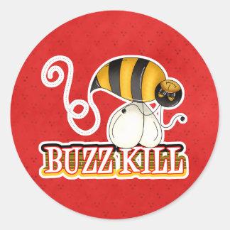 Funny Buzz Kill Bee Sticker