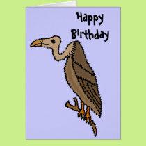 Funny Buzzard Birthday Card