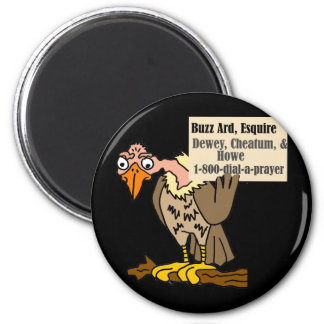 Funny Buzzard Lawyer Joke Cartoon Magnet
