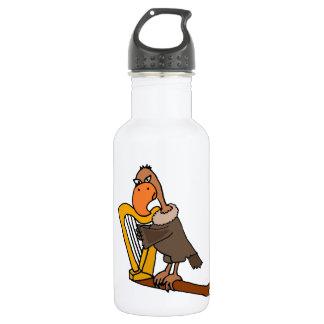 Funny Buzzard Playing Harp Design 18oz Water Bottle
