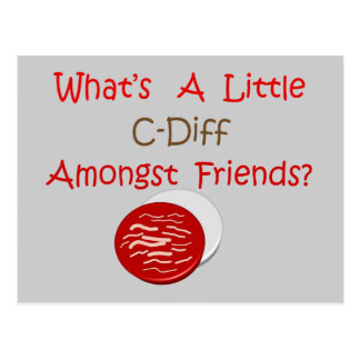Funny C-Diff Nurse T-Shirts Gifts Postcard