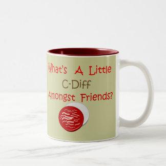 Funny C-Diff Nurse T-Shirts & Gifts Two-Tone Coffee Mug