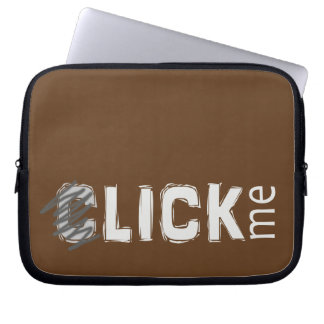 Funny (C)lick Me Ice Breaker Light Text Laptop Computer Sleeves
