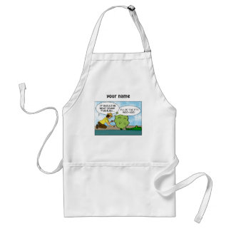 Funny Cache Geocaching Cartoon Custom Name Apron